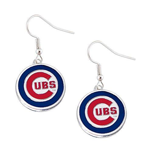 - aminco Chicago Cubs Dangle Logo Earring Set Mlb Charm Gift