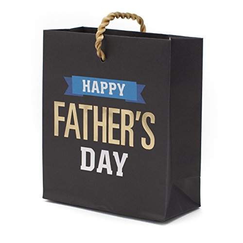 Hallmark Fathers Day Mini Gift Card Bag  Happy Fathers Day Black  Blue  And Gold