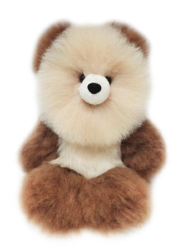 "100% Baby Alpaca Fur Artist Teddy Bear One of a Kind 14"" Beige/Brown"