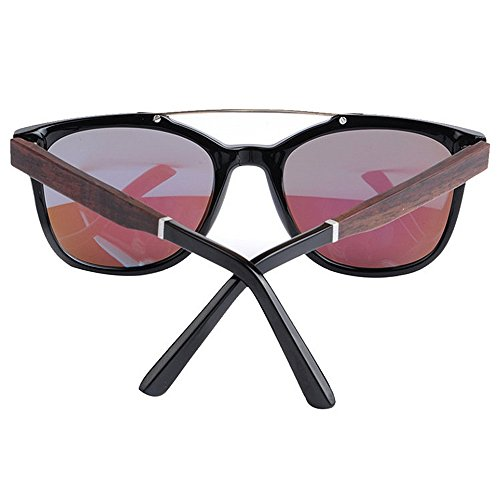 de Playa Lente de Gafas Pesca Madera de de Sol Marco Aire de TAC Azul de polarizadas UV al Libre Gafas Sol Peggy Protección de los Gu Conducción Retro Acetato Fibra Hombres Ba4XqxSgn