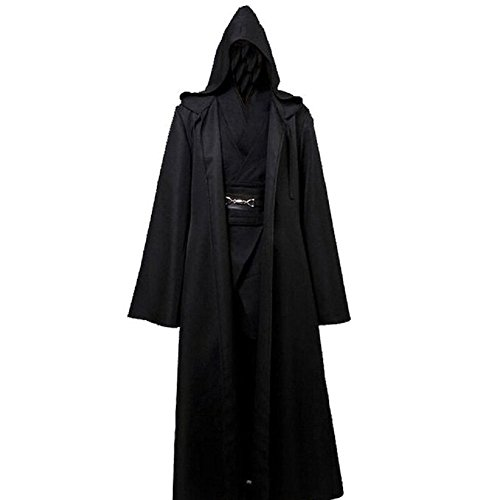 Yiquanzhi Star Wars Costume Anakin Skywalker Halloween Outfit Black (Darth Maul Outfit)