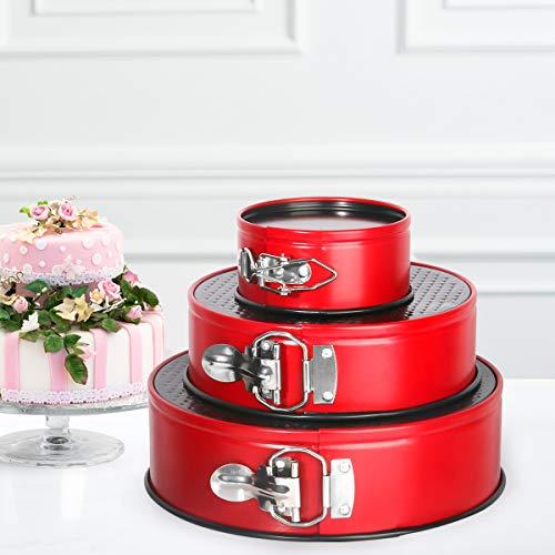 "Springform Pan set, MCIRCO Nonstick Leakproof 3pcs(4""/7""/9"") Cake Pan Bakeware Cheesecake Pan with 2pcs Icing Spatula and 3pcs Icing Smoother (Set of 8pcs)"