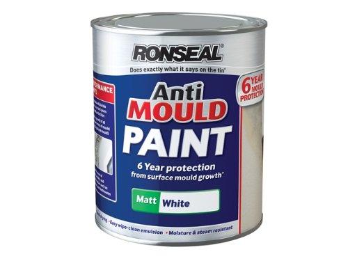 Ronseal AMPWM25L Anti Mould Paint White Matt 2.5 Litre RSLAMPWM25L-TB