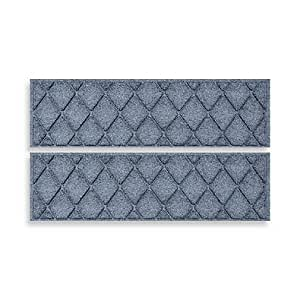 Weather GUARDTM 2-Pack Argyle alfombrilla para peldaños ((piedra azul)