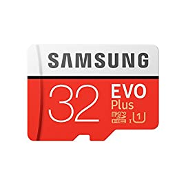 SAMSUNG 32GB EVO Plus MicroSDHC w/Adapter (2017 Model) 1 Samsung Original Models Available: MB-MC32GA, MB-MC64GA, MB-MC128GA, MB-MC256GA Compatible with a wide range of devices for both SD and micro SD (Includes Full-Size SD Adapter.) Excellent Performance for 4K UHD Video and broad compatibility across multiple applications