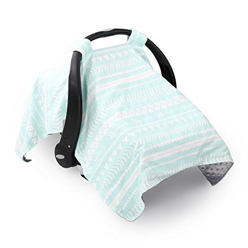 Mint Green Tribal Design Infant Car Seat Canopy Cover by The Peanut Shell (Mint Stroller)