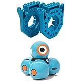 Wonder Workshop Dash Robot with Wonder Workshop Build Brick Extensions for Dash and Dot Robots Bundle
