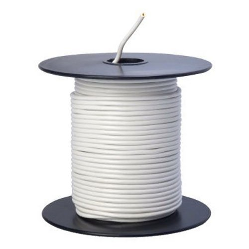 Southwire 55667223 Primary Wire, 18-Gauge Bulk Spool, 100-Feet, White (White Wire Electrical)