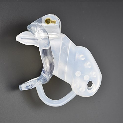 YiFeng Spiked Silicone Male Chastity Cage Device Restraint Men Bondage Fetish 234 (50mm Ring, Short) by YiFeng