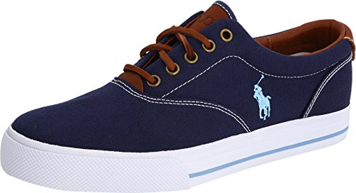 Polo Ralph Lauren Men's Vaughn Fashion Sneaker, Navy, 11.5 D US