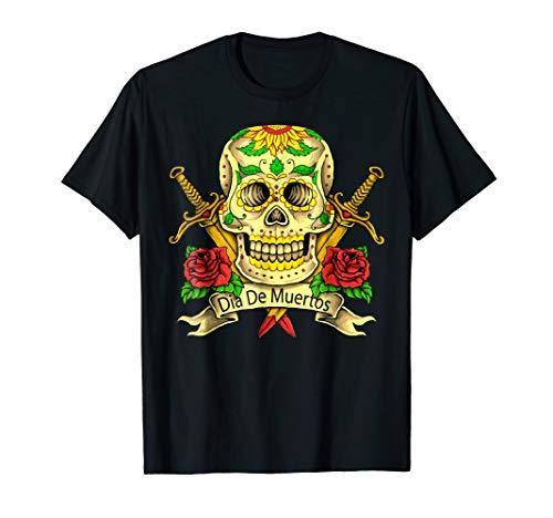 Halloween Dia De Muertos Day Of The Dead Sugar Skull Shirt