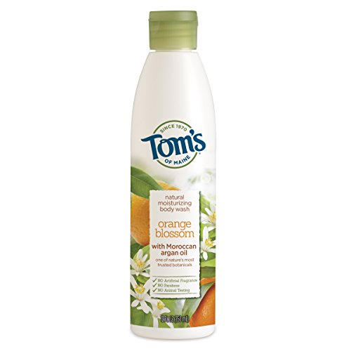 Tom's of Maine Natural Moisturizing Body Wash Soap with Moroccan Argan Oil, Orange Blossom, 12 oz