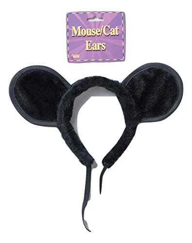 Mighty Mouse Halloween Costumes For Adults - Forum Novelties Large Black Plush Mouse