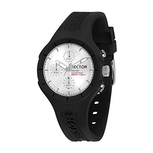 SECTOR Men's Speed Analog-Quartz Sport Watch with Silicone Strap, Black, 18 (Model: R3251514001