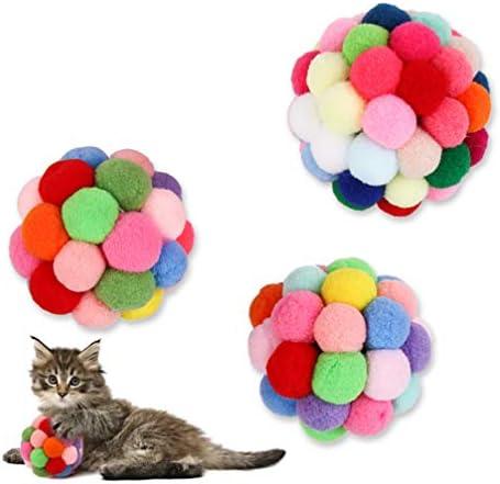 POPETPOP Juguetes para Gatos Pelota Hinchable con Campanas Juguete Interactivo Catnip para diversi/ón y Entretenimiento para Mascotas Gatito Gato