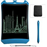 Dimi 8.5 Inch LCD Writing Tablet,Robot Electronic Writing Pads Drawing Board with Case Gifts for Kids & Adults Office Blackboard + Erase Button Lock Included(Blue + Stylus)