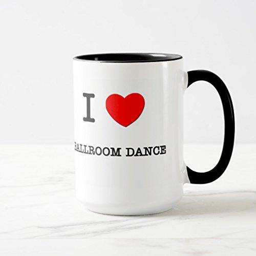 Zazzle I Love Ballroom Dance Coffee Mug, Black Combo Mug 15 oz by Zazzle