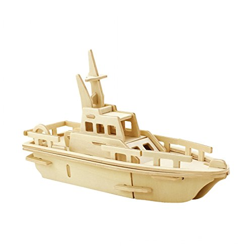 Painting Wooden Boat - PONTE COLLECTION 3D Wooden Puzzle Yacht Model Building Kit Puzzle Toy 3D Puzzles 34-pcs