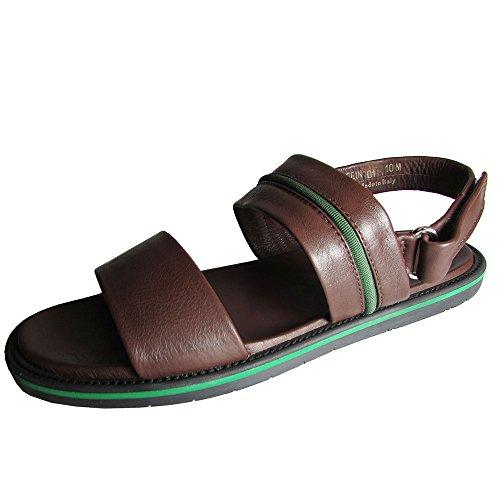 Donald J Pliner Mens Sein-01 Open Toe Leather Sandal Shoe, Brown, US 10