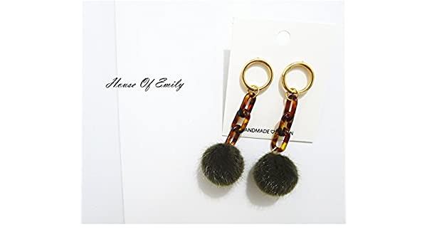 Amazon Usongs Net Red Mink Hair Ball Chain Fall And Winter Army
