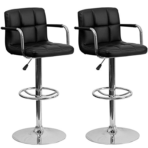 wrigley-adjustable-height-chrome-swivel-bar-stool-with-arms-pair-set-black
