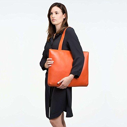 Borsa Unique Le In Taille Zaino Donne Pelle Per Arancione Dudu rwrAPU8qn