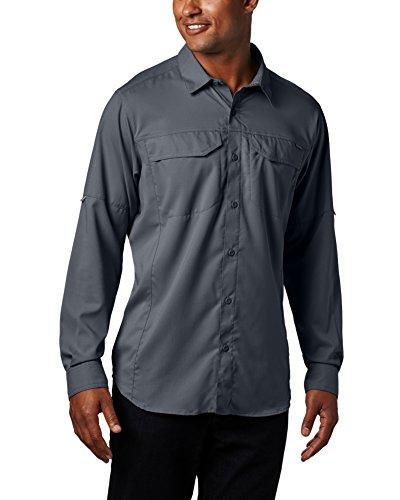 Columbia Mens Silver Ridge Lite Long Sleeve Shirt, Graphite, Medium