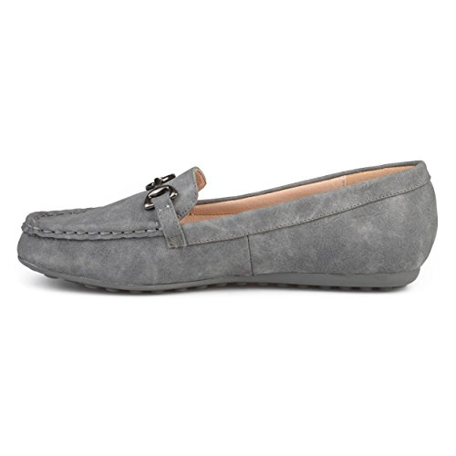 Brinley Grey Leather Sole Elisha Accent Chain Womens Loafers Comfort Co Faux Driving qrxP4pTrwI
