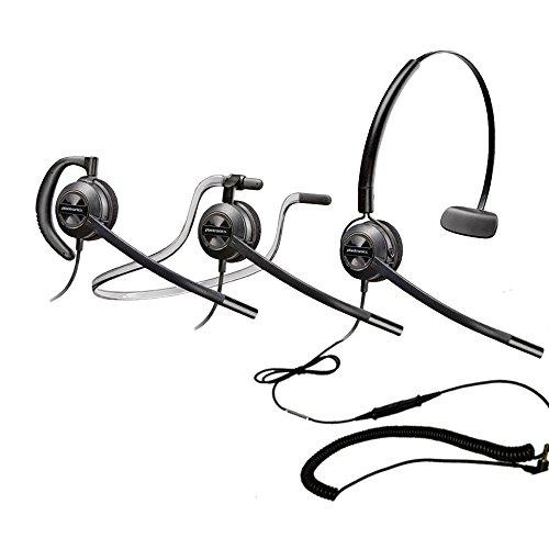 Polycom Compatible Plantronics VoIP Noise Canceling EncorePRO 540 HW540 Headset Bundle for IP320, IP321, IP330, IP331