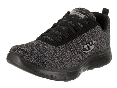 Skechers Sport Flex Appeal 2.0-12753 Women's Sneaker 7 B(M) US Black-Black by Skechers