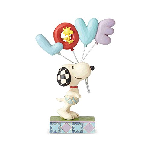 Enesco Jim Shore Peanuts Snoopy with Love Balloon Figurine, 7.5 Inch, Multicolor