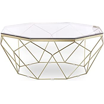 Amazon Com Design Tree Home Esme Geometric Coffee Table
