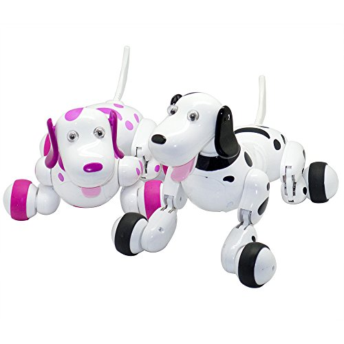 Zlimio Electronic Pets Toy ,2.4GHz RC Remote Control Smart Robot Pet Dog Puppy (Pink)