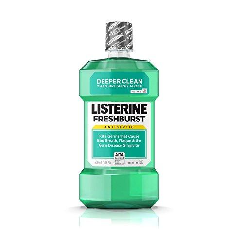 Listerine Antiseptic Mouthwash, Fresh Burst, 500 ml (Pack of (Best Listerine Acne Treatments)