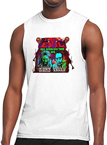 タンクトップ メンズ ロブ・ゾンビ Rob Zombie ノースリーブ Tシャツ 吸汗通気 フィットネス カジュアル インナーベスト スポーツ