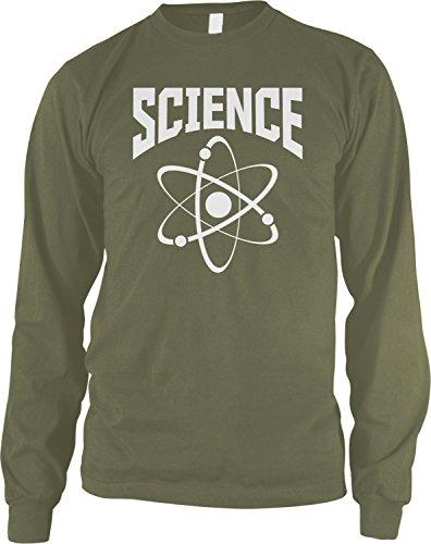 Amdesco Men's Science Long Sleeve Shirt, Moss Green Small