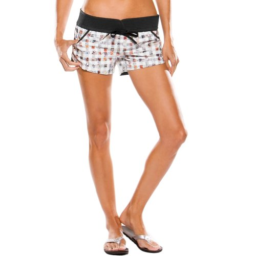 It Women's Boardshort Surfing Pants - Black Print / Size 13/14 ()