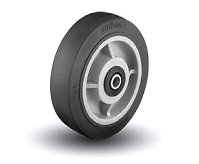 """Colson 3/4"""" ID 10"""" x 2-1/2"""" Soft Rubber Wheel 1000lbs. Cap."""