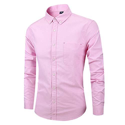 Cher Ado Pas Tee Mode Top Vetement La Longue T Garçon shirt Gilet Sweat À Plaid Blanche A Manche Vest Bande Chemise Homme Rose Coton wqHSFntI