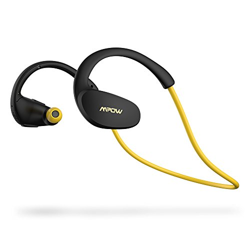 Mpow [Gen-2 Version] Cheetah Bluetooth Headphones V4.1 Nano-coating Sweatproof Sport Headphones for Running Gym Exercise Hands-free Calling-Yellow