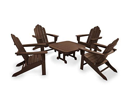 POLYWOOD PWS179-1-MA Long Island 5-Piece Conversation Group Adirondack Seating Set, ()