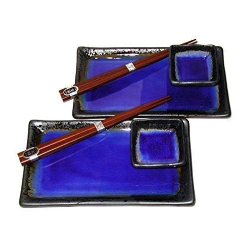 - MIYA Kosui Sushi Set for 2 (Cobalt Blue)