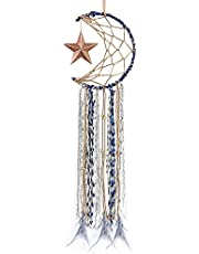 Dream Catcher ~ Handmade Traditional Feather Wall Hanging Home Decoration Decor Ornament Craft (Star)