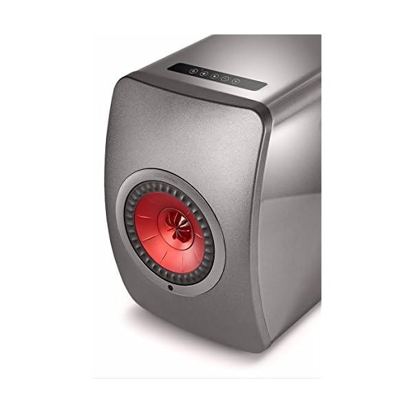 KEF LS50 Wireless - Enceinte sans Fil - Titane | Enceintes Actives | HiFi | Airplay 2 Enceintes | Spotify Connect, Tidal | LS50 système de Musique Active et système stéréo 4