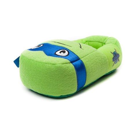 Nickelodeon Boy's Teenage Mutant Plush Slippers 4-5 M US Big Kid Green