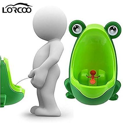 Lorcoo - Kinder-Urinal, Urinal für Jungen in Frosch-Form für Baby Pee Pissoir Training TMDE0062