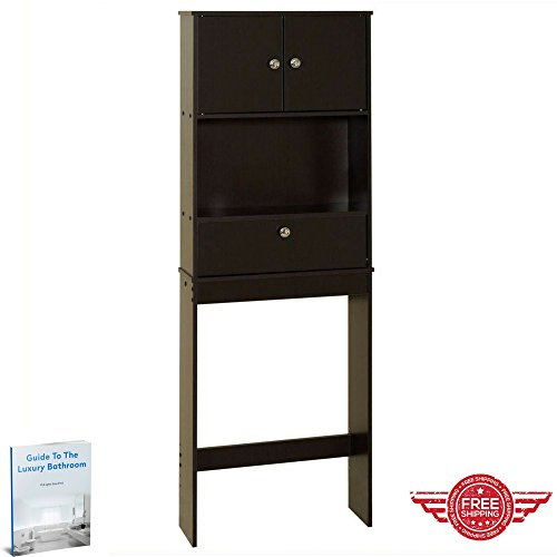 Over The Toilet Storage Cabinet Bathroom Practical Indoor Cupboard Home Storage Shelves Bathroom Furniture & Ebook by Easy2Find.