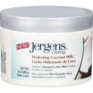 Jergens Crema Deep-Hydrating Cream, Coconut Milk, 8 Ounce