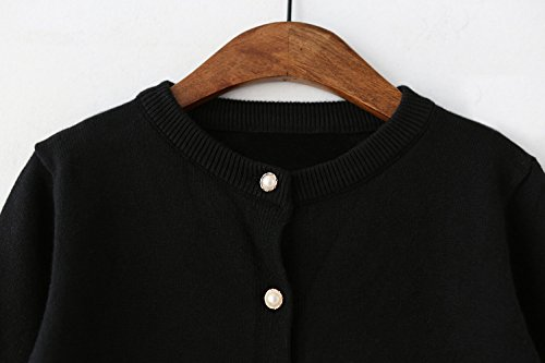SMILING PINKER Girls Cardigan Sweater School Uniforms Button Long Sleeve  Knit Tops Purple e7d5fe2b9
