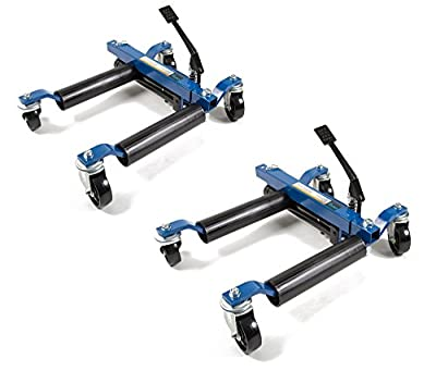"Capri Tools 21084-2PK Hydraulic Car Positioning 9"" Tire Jack/Dolly (Pack of 2)"